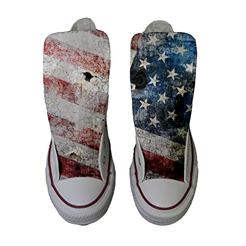 Size Personalizados Usa Eu Zapatos 37 producto Handmade Old All Converse Star UqYtR88
