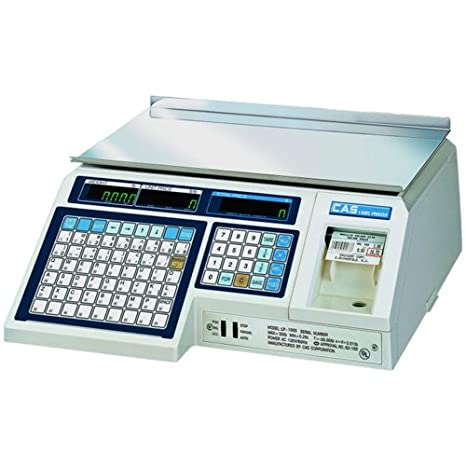 CAS LP1000N Label Printing Scale, 30lbs Capacity, 0.01lbs Readability CAS Corporation