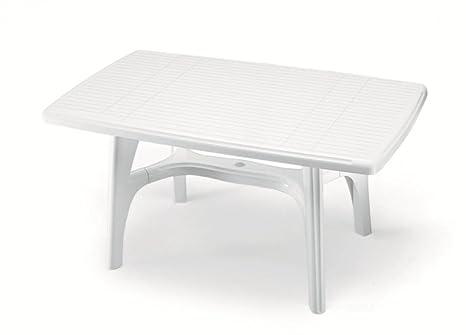 Tavoli Da Esterno In Plastica.Ideapiu Tavolo Da Giardino Rettangolare Per Esterno 140x80 Tavolo