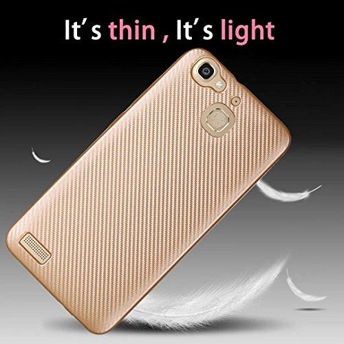 YAJIE-Carcasa Funda Para Huawei GR3 / G8 Mini / disfrutar de la caja de 5S, delgado de fibra de carbono de goma suave TPU a prueba de golpes cubierta de la caja ( Color : Rose Gold ) Rose Gold