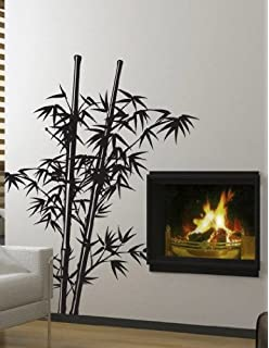 Vinyl Wall Art Decal Sticker Asian Decor Chinese Bamboo Tree 7ft BIG #332