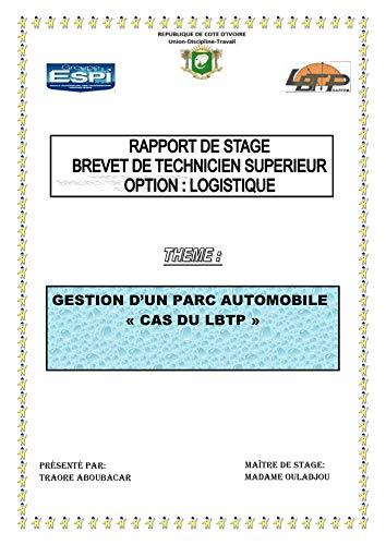 Rapport De Stage Logistique Gestion D Un Parc Automobile