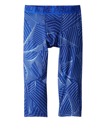 Nike Kids Boy's Pro 3/4 Print Training Legging (Little Kids/Big Kids) Deep Royal Blue Large Deep Range Basketball Shoe