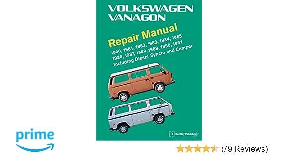 volkswagen vanagon repair manual 1980 1981 1982 1983 1984 1985 rh amazon com Lowered 1981 Westfalia 1980 Westfalia Interior