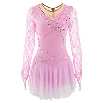 Amazon.com : HUAYANGNIANHUA Figure Skating Dress Girl Woman ...