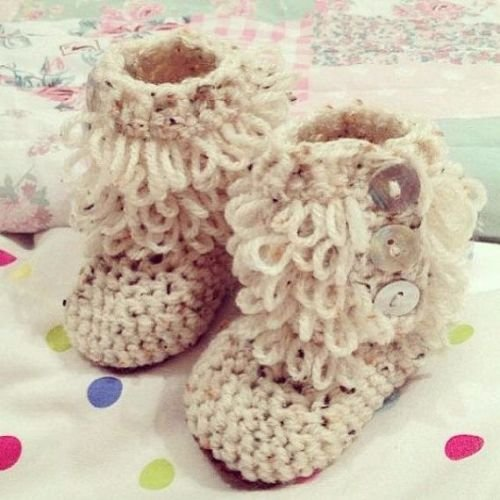 Loopy Baby Booties 0-3m