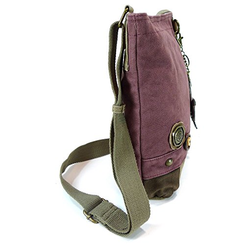 White Purse Crossbody Slim Handbags Mauve Canvas Combo Cat Coin with Chala Bags Messenger RYfv6v