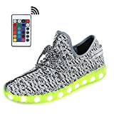 Cheap LeoVera Remote Light up Shoes USB Charging LED Shoes Flashing Sneakers LVBYZ17-Grey02-43