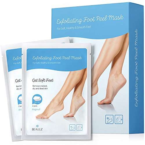 BeaLuz Exfoliating Foot Peel Mask - Exfoliant for Soft Feet in 1-2 Weeks, Peeling Off Calluses & Dead Skin, For Men & Women 2 Pairs by AsaVea