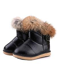 WYSBAOSHU Warm Girl's Winter Snow Boots Outdoor Fur Shoes