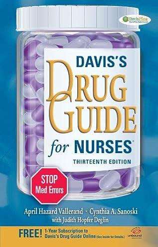 davis s drug guide for nurses 9780803628342 medicine health rh amazon com davis drug guide 2018 davis drug guide 16th edition