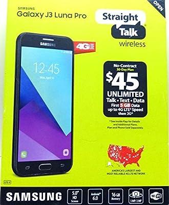 Straight Talk - Samsung Galaxy J3 Luna Pro 4G LTE with 16GB Memory Prepaid Cell Phone - Black