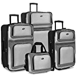 Travelers Choice New Yorker 4-Piece Luggage Set in Red