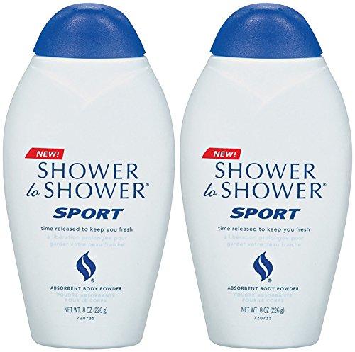 Shower To Shower Absorbent Body Powder, Sport 8 oz (226 g)