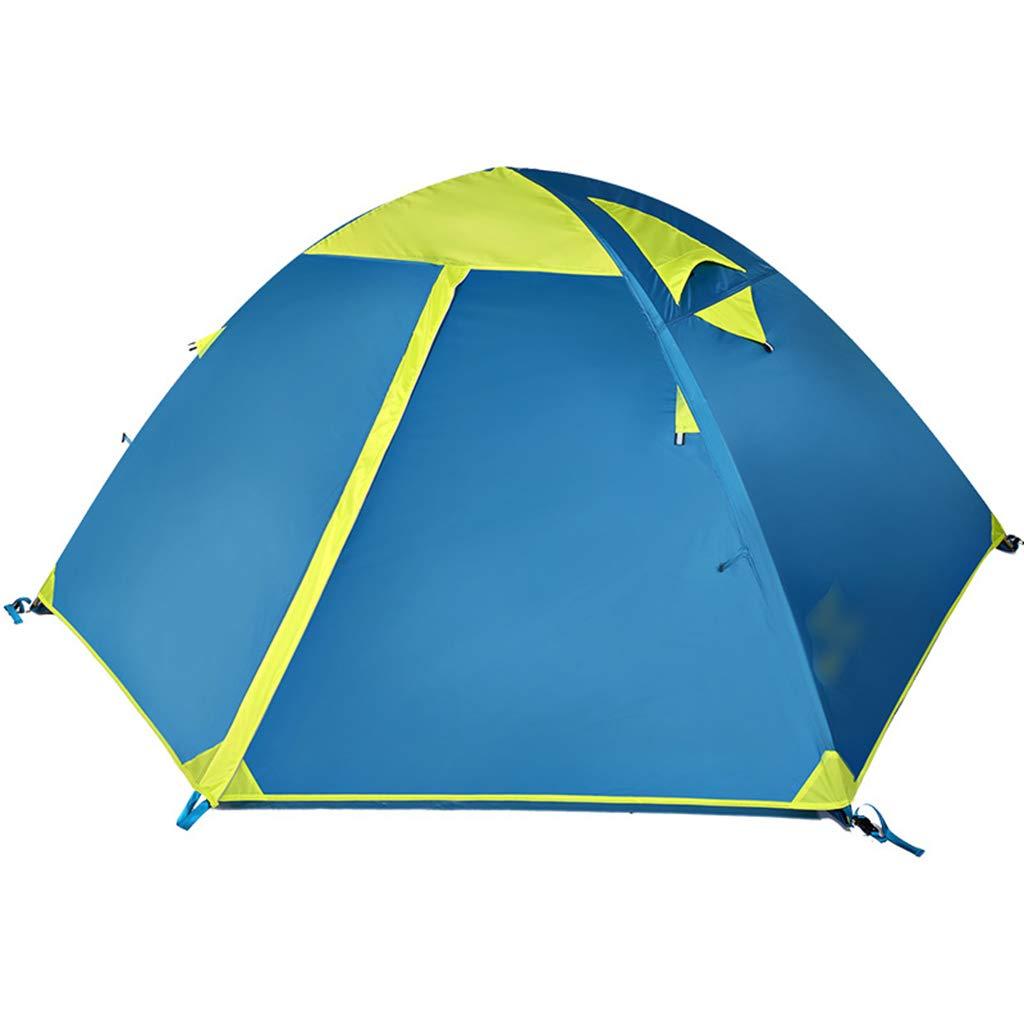 YaNanHome Zelt im Freien Zelt Doppel regendicht Zelt 2  Herrenchen Wilden Camping Zelt Bergsteigen Zelt Doppel Farbe optional (Farbe : Blau, Größe : 210  140  110cm)