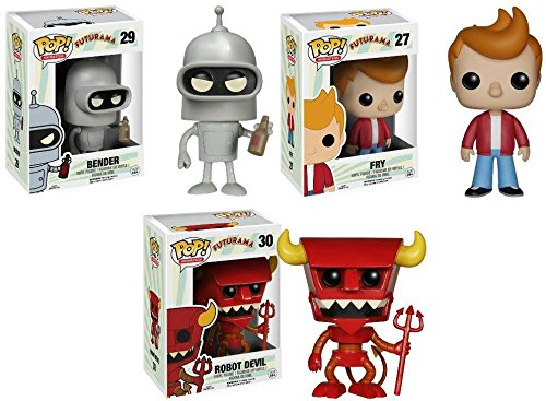 Funko Pop! Futurama Fry + Bender + Robot Devil - TV Vinyl Figure Set New