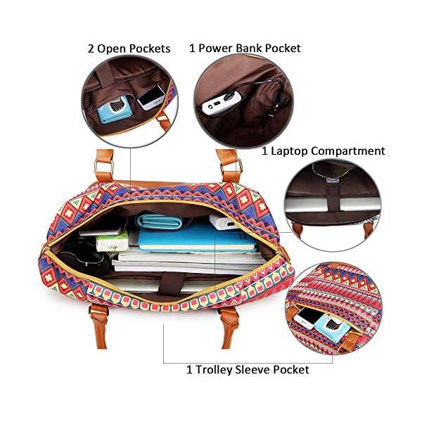 Borsone da viaggio weekend Borsa da palestra handbag Tote da borsa sportiva con porta USB Borsa tote per laptop comoda… 5 spesavip