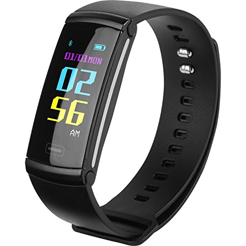 SEFREE Activity Tracker Pedometers,Fitness Tracker Bracelet with Heart Rate Monitors,Smart Wristband for Step Distance Calories Track in Black for Android and ()