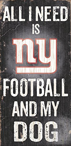 Fan Creations Sign New York Giants Football and My Dog, Multicolored ()