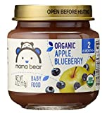 Mama Bear Organic Baby Food, Stage 2, Apple Blueberry, 4 Ounce Jars (Pack of 12)