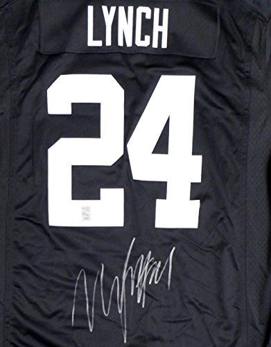 Autographed Marshawn Football Lynch - Oakland Raiders Marshawn Lynch Autographed Black Nike Jersey Size XL ML Holo