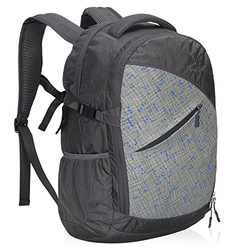 Hynes Eagle School Backpack Urban Commuter Backpack Lightweight Outdoor Backpack 25L, Grey