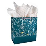 Gift Bags Set with Bonus Tissue Paper, Greeting Cards and Envelopes. Gift Giving Made Easy with Tissue Paper and Cards! Perfect for birthday, holiday, wedding, baby shower, anniversary, and Christmas!