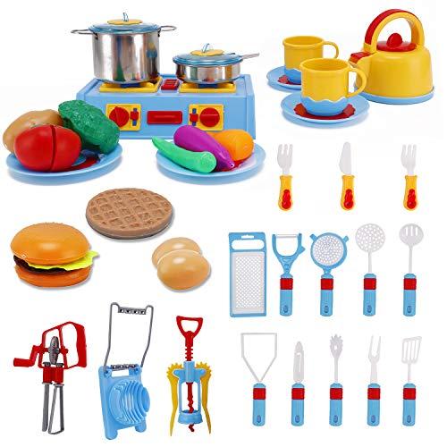 Pieces Pots Pans Mini Stove Kitchen Appliance Pretend Play F