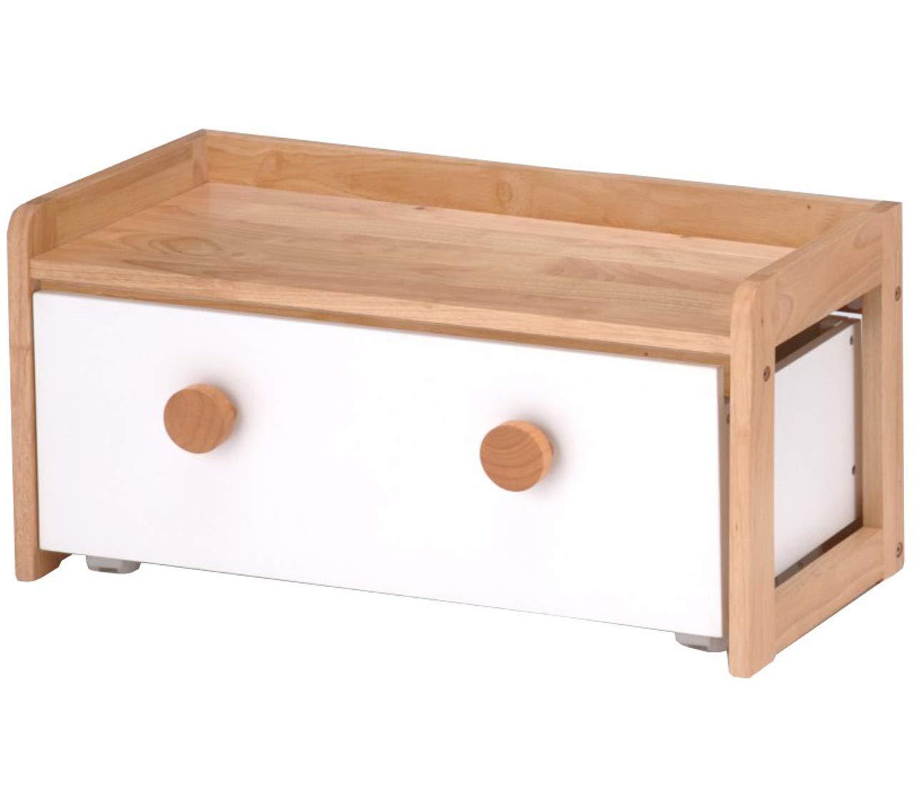 こども用 テーブル キッズデスク 木製 収納ボックス おもちゃ箱 付き ナチュラル B07MZ9BTHB