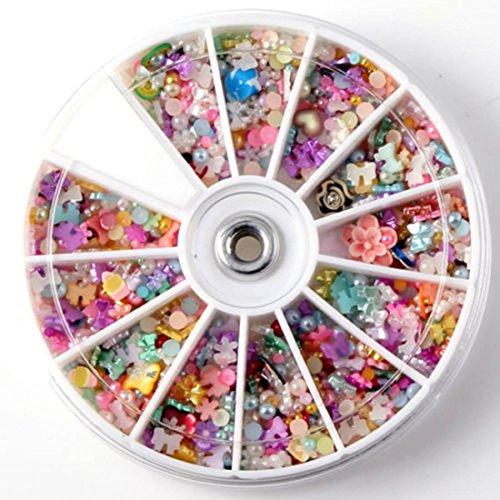 1200-Pcs Bright Popular Nail Art Wheel Slice Glitters Fashion Tips Manicure Accessory Primer DIY Multi-Color Mixed - Justice Glasses Fake