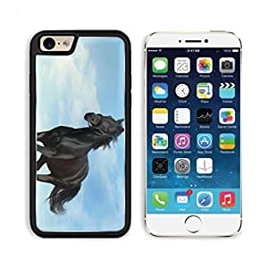 Animal Black Horse Clouds Sunshine Alone Gallop Apple iPhone 6 TPU Snap Cover Premium Aluminium Design Back Plate Case Customized Made to Order Support Ready Luxlady iPhone_6 Professional Case Touch Accessories Graphic Covers Designed Model Sleeve HD Template Wallpaper Photo Jacket Wifi Luxury Protector Wireless Cellphone Cell Phone