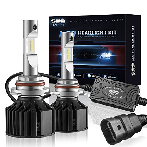 SEALIGHT X2 9006/HB4 LED Headlight Conversion Kit ( DOT Approved ) - 50W 8000LM Low Beam / Fog Light Bulbs - 16x CSP LED Chips - Cool White 6000K -2 Yr Warranty