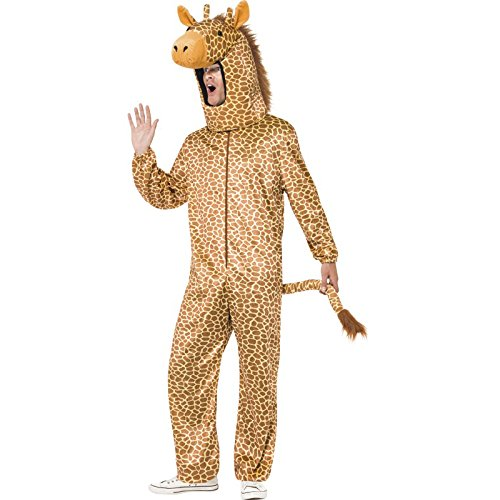 Smiffy's Men's Giraffe Costume, All in One and Hood, Party Animals, Serious Fun, One Size, 53289