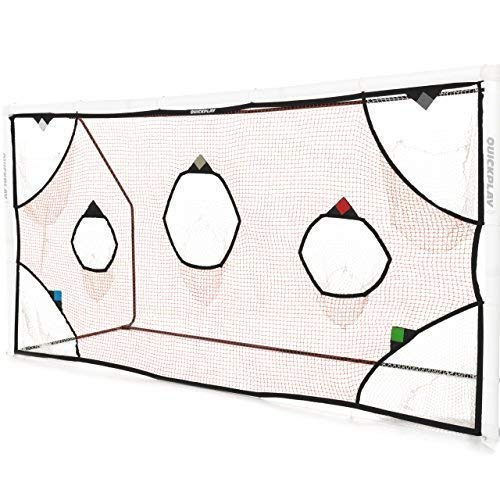 QuickPlay PRO Soccer Goal Target Net 12X6' with 7 Scoring Zones - Practice Shooting & Goal Shots