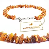Baltic Amber Collar with Adjustable Chain for Dogs and Cats / Natural Pet Protection / Gift-Ready Packaging – Perfect Present for Every Pet Lover / 100 Days 100% Satisfaction Guarantee!