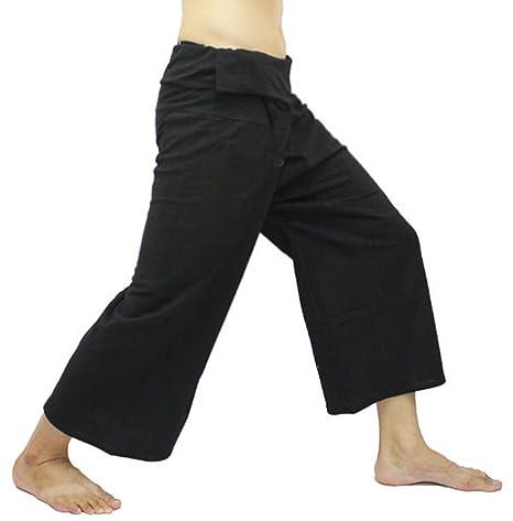 Black Thai Fisherman Wrap Pants Trousers Yoga Massage ...