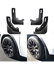 XTAUTO Mud Flaps Fit for Tesla Model Y Splash Guards Fender (Set of 4) 2016-2021 Tesla Model Y Mudguard Accessories Upgraded No Drilling or Sticking Required