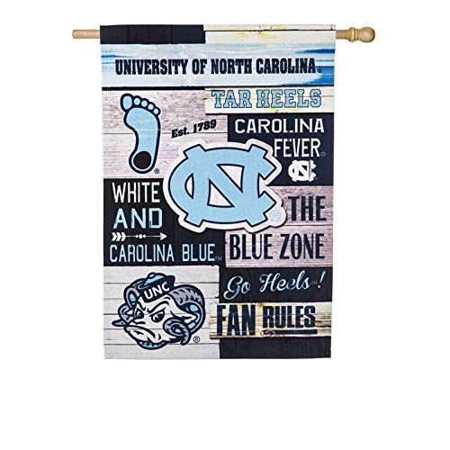 Team Sports America University of North Carolina Fan Rules Linen House Flag - Linens North Carolina University