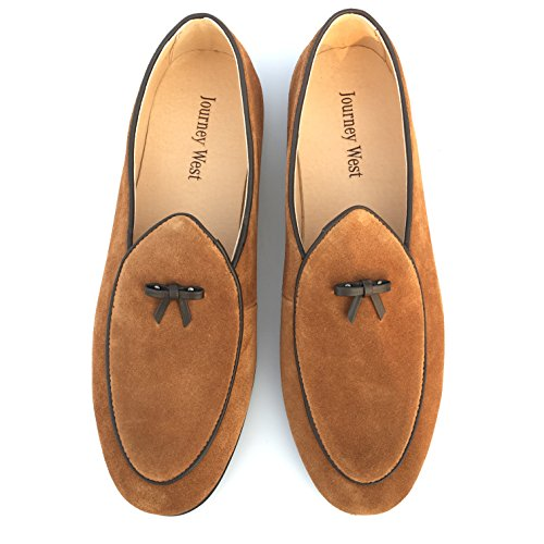 clearance store online prices cheap price Journey West Men's Vintage Loafers for Men Slip-on Loafer Penny Loafer Casual Loafers 1-brown buy cheap outlet really sale online best store to get for sale uPx5bBs