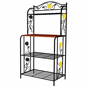 Wudon estante para microondas de acero cl sico multi - Estante para microondas ...