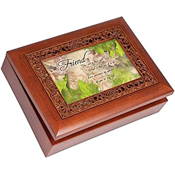cottage garden music box friend plays that 39 s what friends are for with ornate. Black Bedroom Furniture Sets. Home Design Ideas
