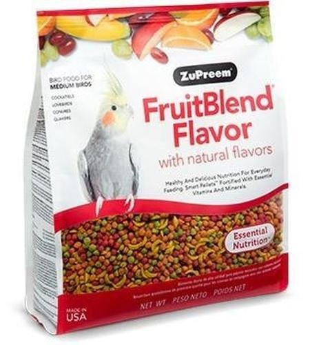 ZuPreem Fruit Blend Bird Food With Natural Fruit Flavors, Medium, 17.5 Pound Bag (Blend Fruit Zupreem Flavor)