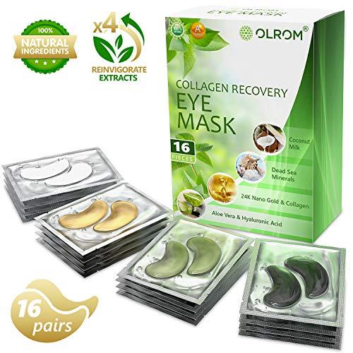 (Under Eye Mask Gold Eye Mask Anti-Aging Hyaluronic Acid Eye Patches Under Eye Mask for Moisturizing & Reducing Dark Circles Puffiness Wrinkles Eye Gel Pads (Variety))