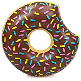 Sol Coastal 38-Inch Donut Pool Float, Chocolate Frosted with Rainbow Sprinkles