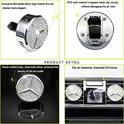 VILLSION Car Air Freshener Vent Clip Fragrance Car Smell Airfreshener Perfume Diffuser for Driver with Gift Box: Automotive
