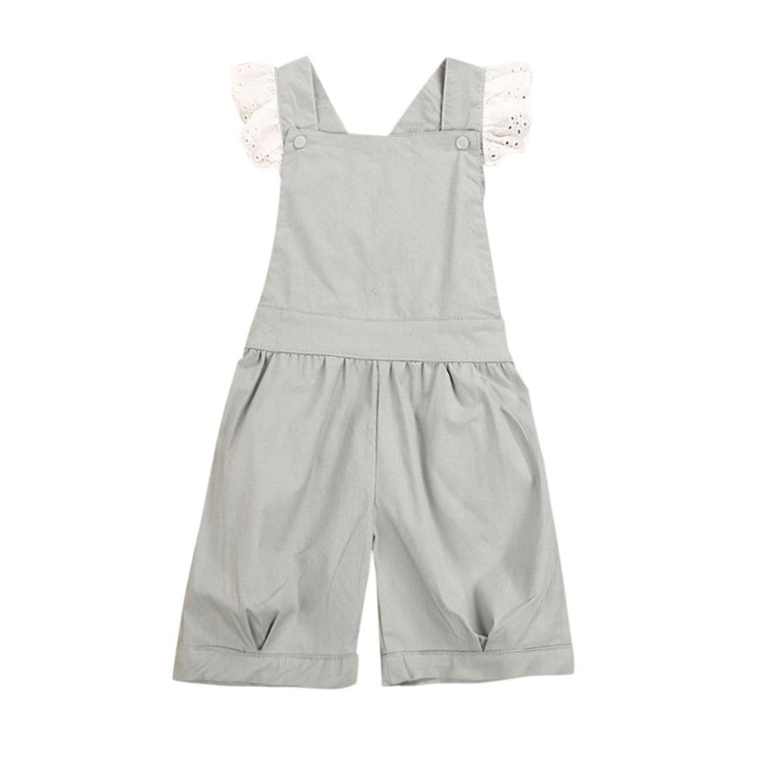 KONFA Toddler Baby Girls Sleeveless Rompers Overalls, Suitable for 0-4 Years Old, Little Princess Playwear Jumpsuit Clothes Set Konfa-4