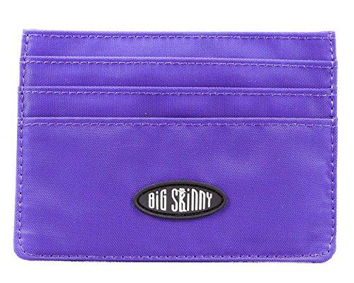 Big Skinny Mini Skinny Card Slim Wallet, Holds Up to 12 Cards, Purple