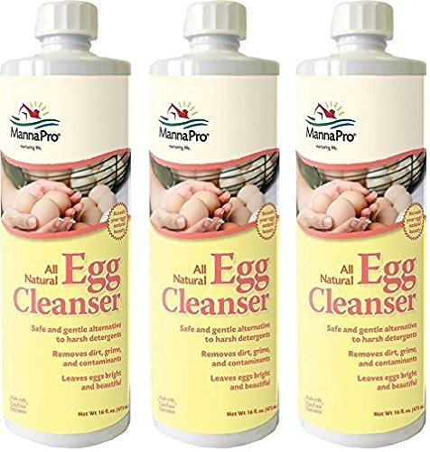 MANNA PRO-FARM (3 Pack) Egg Cleanser, 16 Ounces Per Bottle Cleanser 16 Ounce Bottle