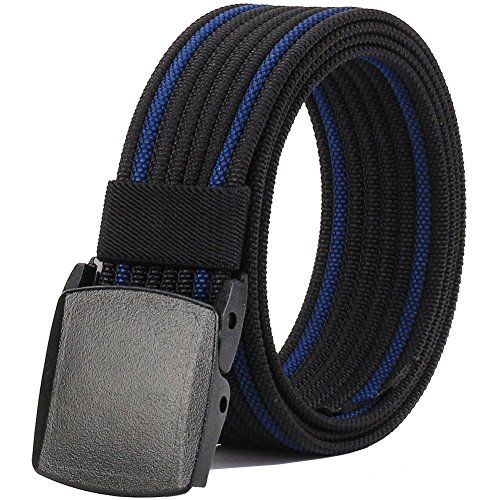 Nylon Belts for Men,Military Tactical Belt with YKK Plastic Buckle,Durable Breathable Canvas Belt for Work Outdoor Sport,Adjustable for Pants Size Below 46inch[53