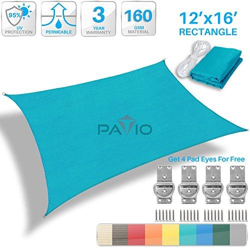 Patio Paradise Turquoise Rectangle Square product image